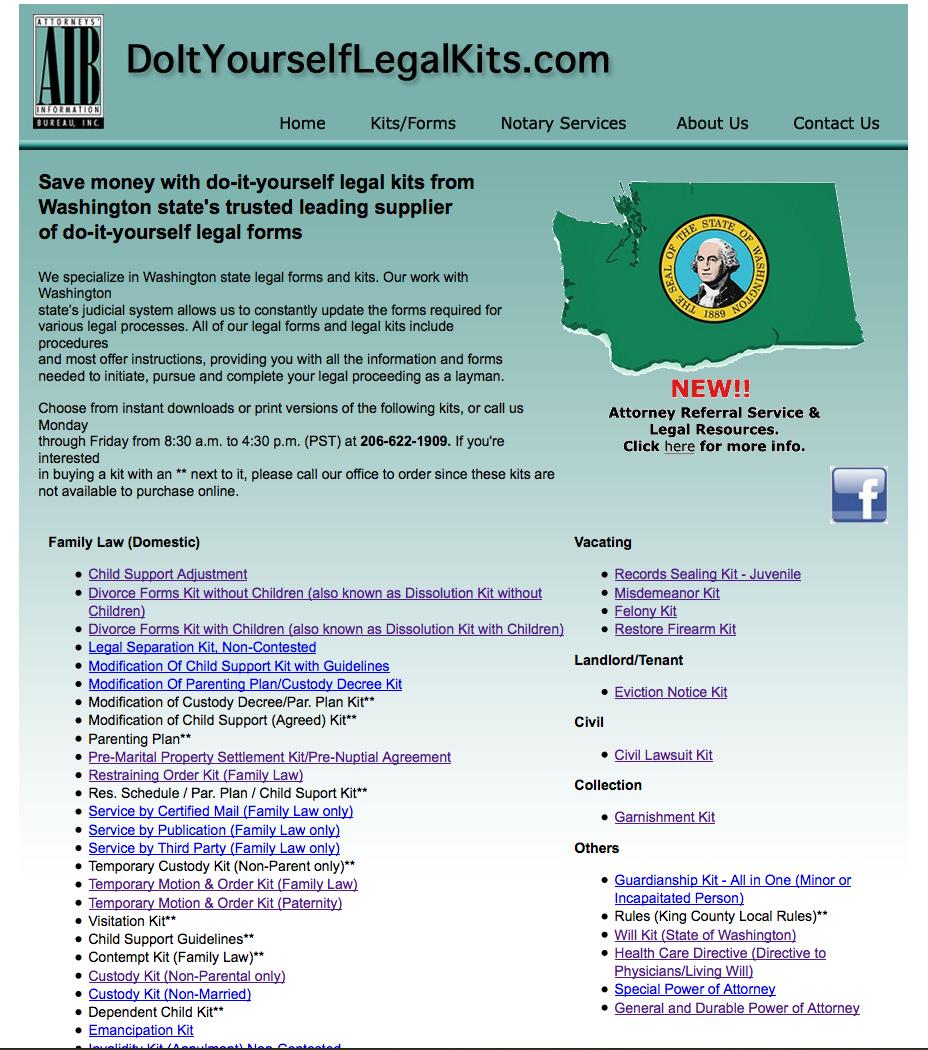 Instant download product website