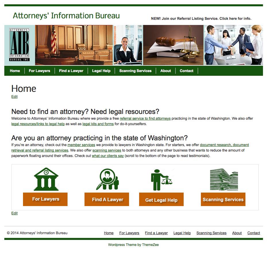 Attorney listing service website